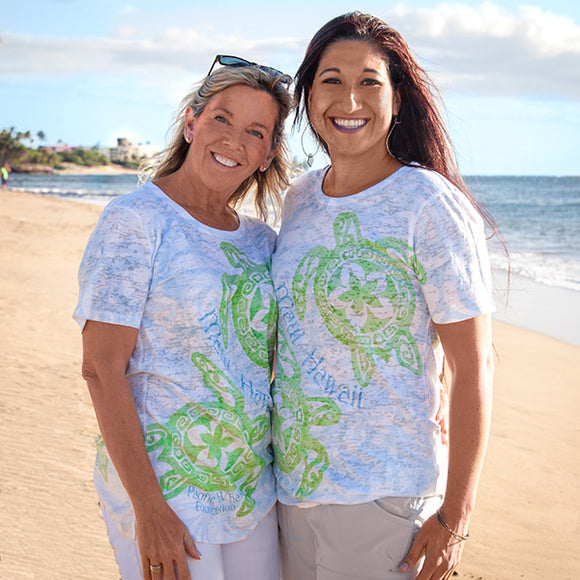 Plumeria Turtles T-Shirt