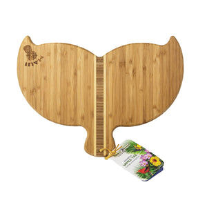 Bamboo Cutting Board: Whale Tail