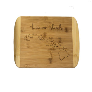 Bamboo Cutting Board: Hawaiian Islands
