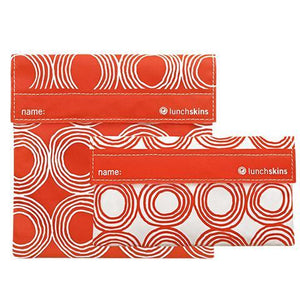 Reusable Velcro 2-Pack Bag Set - Sunset Circles