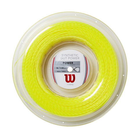 Wilson Synthetic Gut Power Reel (660') Yellow