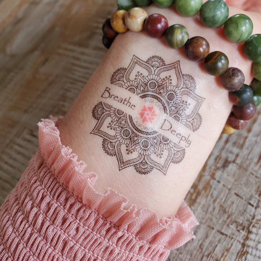 Breathe Deeply - Temporary Tattoo