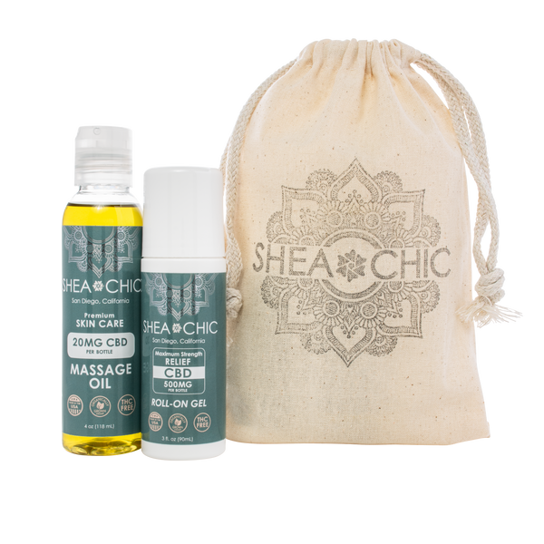 CBD Set with Drawstring Bag Discounted for the Holidays! Limit 4 Gift Sets Per Household.