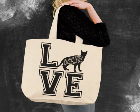Abyssinian Cat Love Tote Bag