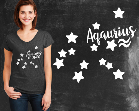 Aquarius Zodiac Graphic T-shirt