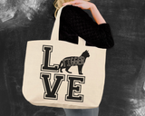 Bengal Cat Love Tote Bag