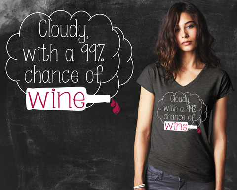 Chance of Wine Graphic T-shirt