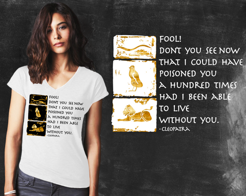 Fool Cleopatra Graphic T-shirt