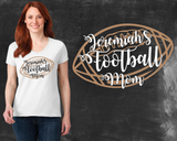 Football Mom Graphic T-shirt