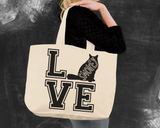 Himalayan Cat Love Tote Bag