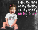 My Mind On My Mommy Girls Graphic T-shirt