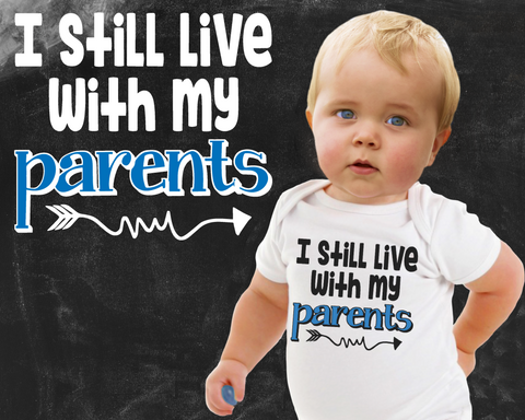 I Live With My Parents Boys Graphic T-shirt