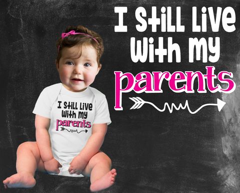 I Live With My Parents Girls Graphic T-shirt