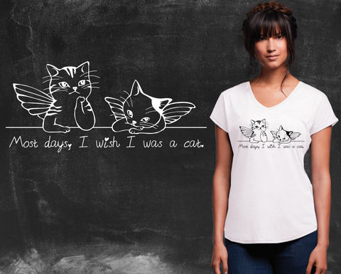 I Wish I Was a Cat Graphic T-shirt