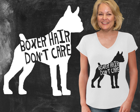 Boxer Hair Don't Care Boxer Dog Shirt