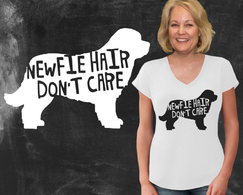 Newfie Hair Don't Care Newfoundland Dog Shirt