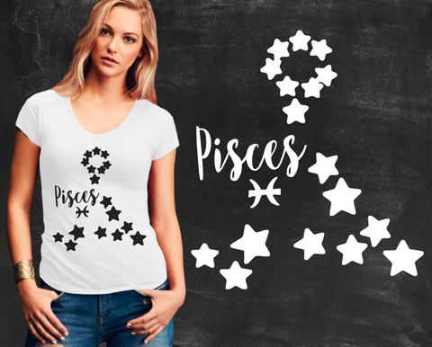 Pisces Zodiac Graphic T-shirt