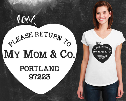 Please Return To My Mom Graphic T-shirt