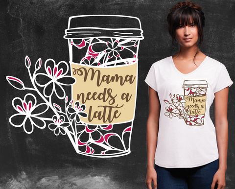Mama Needs a Latte Graphic T-shirt
