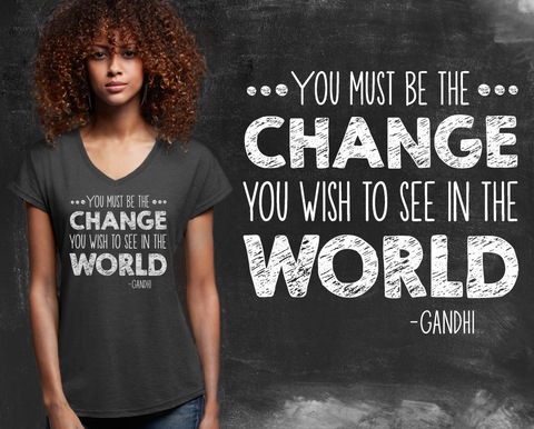 Be The Change Graphic T-shirt