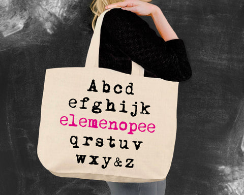 ABC Elemenopee Canvas Tote Bag