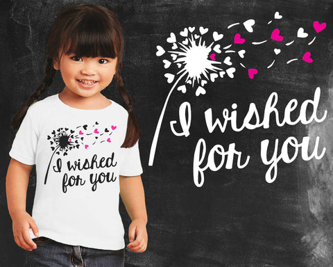 I Wished for You Dandelion Girls Graphic T-shirt