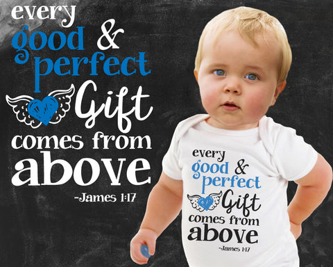 Good and Perfect Gift James 1:17 Boys Graphic T-shirt