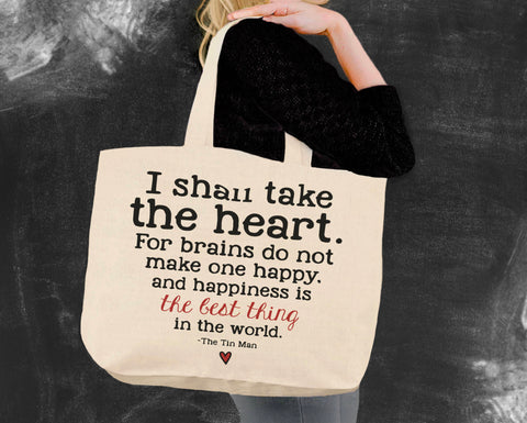 I Shall Take the Heart Wizard of Oz Tote Bag
