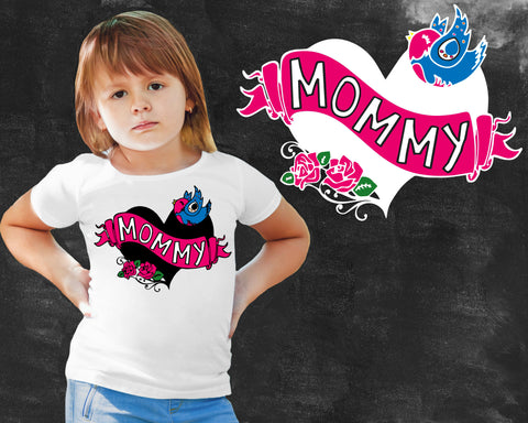 Mom Tattoo Girls Graphic T-shirt