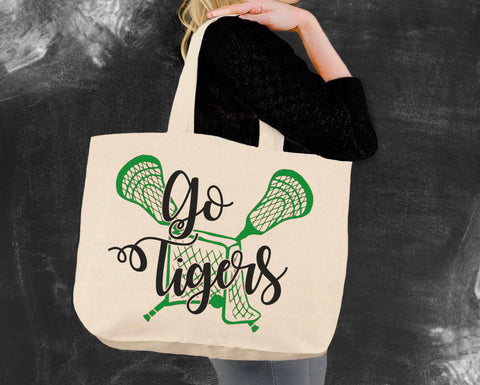 Lacrosse Team Tote Bag