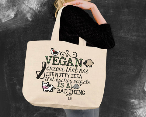 Hurting Animals is a Bad Thing Vegan Tote Bag