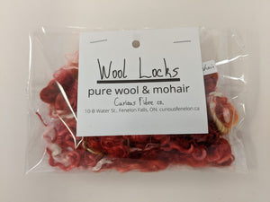 Pure Wool & Mohair Locks | Mixed Colours Light