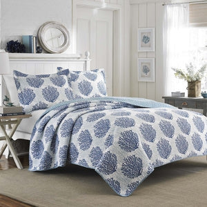 Sea Wees Blue Quilt Set