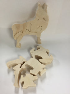 Wooden Wolf Puzzle