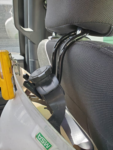 hard hat holder for truck hitch oil field