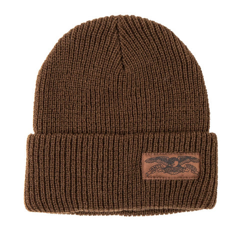 ANTIHERO - Stock Eagle Label Cuff Beanie - Bonnet /Brown
