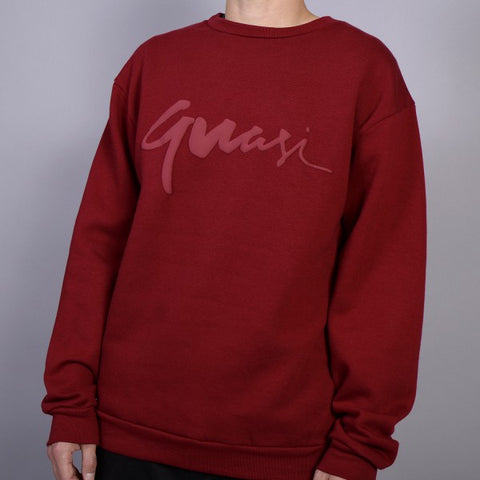 QUASI - Century Crewneck - Sweat /Rouge Crimson