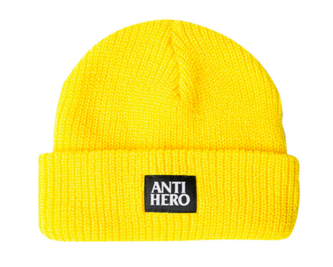 ANTIHERO - Lil Black Hero Beanie - Bonnet /Yellow