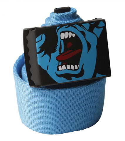 SANTA CRUZ - Screaming Hand Belt - Ceinture /Bleu