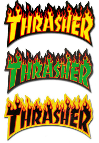 THRASHER - Flame Logo - Medium - Sticker