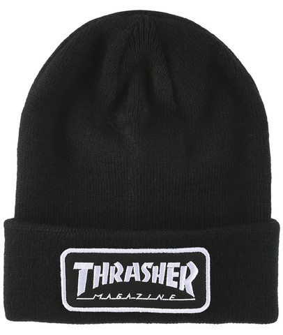 THRASHER - Logo Patch - Bonnet /Noir