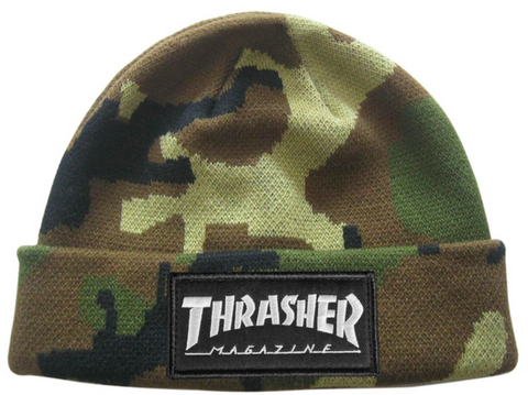 THRASHER - Logo Patch - Bonnet /Camo