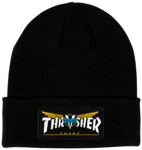 THRASHER - Venture Patch - Bonnet /Black