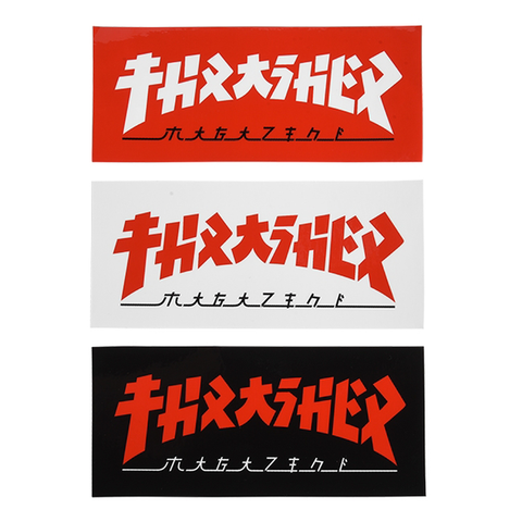 THRASHER - Godzilla - Rectangle Logo - Sticker