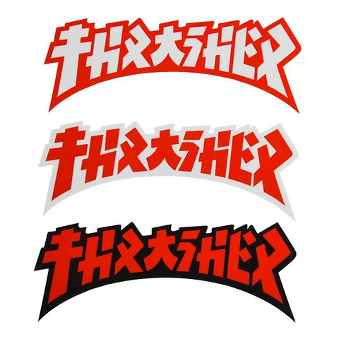 THRASHER - Godzilla - Die Cut Logo - Sticker