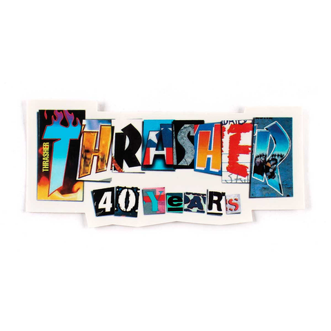 THRASHER - 40 Years - Medium - Sticker