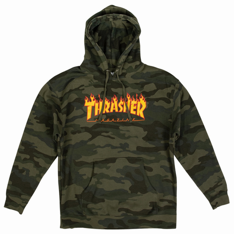 THRASHER - Flame Hoodie - Sweat Capuche /Flame Camo