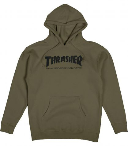 THRASHER - Mag - Hoodie /Army Green
