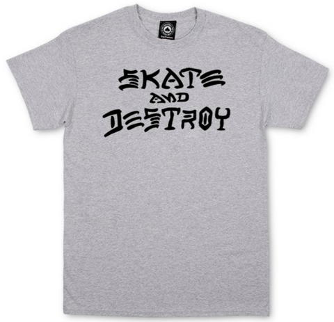THRASHER - Skate & Destroy - Tshirt /Grey
