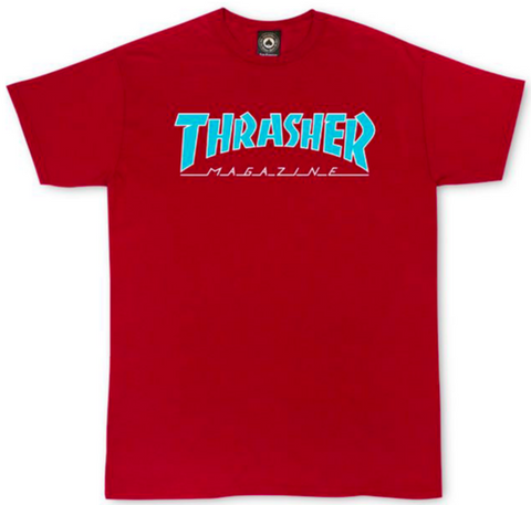 THRASHER - Outlined - Tshirt /Cardinal